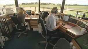 Plymouth Airport control tower