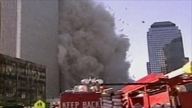 South tower collapses