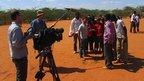 Filming in Dadaab