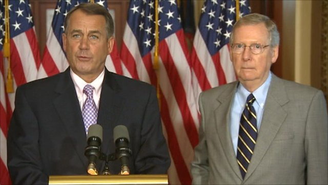 House Speaker John Boehner and Senate Republican leader Mitch McConnell