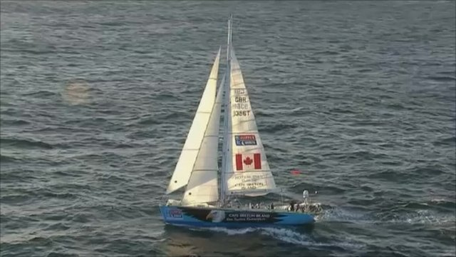 One of the ten identical boats taking part in the Clipper Round The World Race