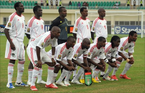 Malawi's Flames at the 2010 Africa Cup of Nations in Angola