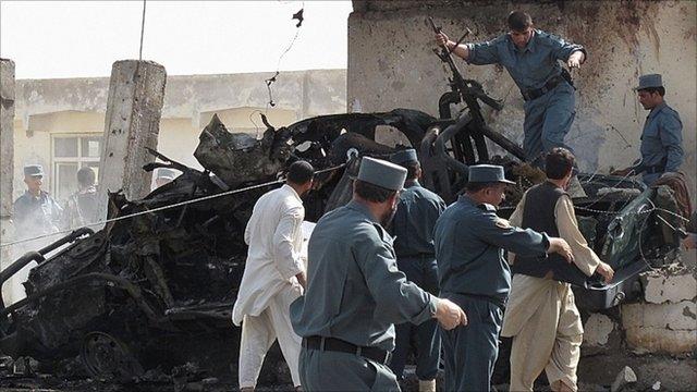 Lashkar Gah wreckage
