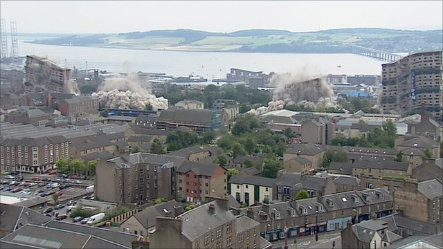 Dundee tower block demolition