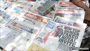 Various Indian newspapers