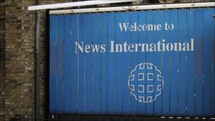 News International sign