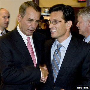 Speaker John Boehner (l) and Majority Leader Eric Cantor