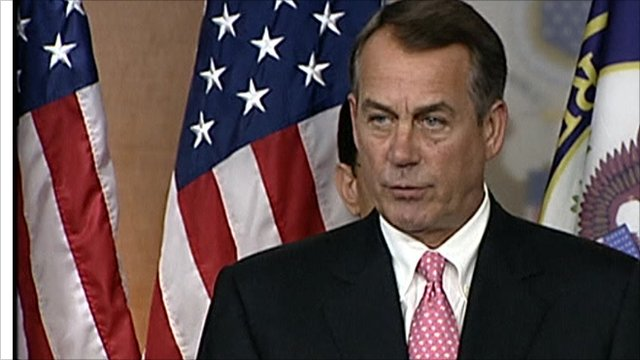 Republican House leader John Boehner