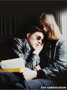 Stieg Larsson and Eva Gabrielsson in 1980