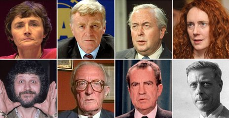 Montage of people who have famously resigned