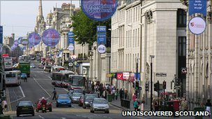 Aberdeen City Centre. Photo courtesy of Undiscovered Scotland
