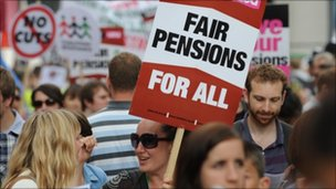 Pensions protest