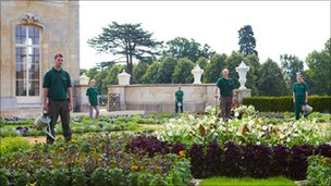 Groundsmen at Wrest Park