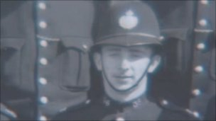 Arthur Rowlands in his police uniform