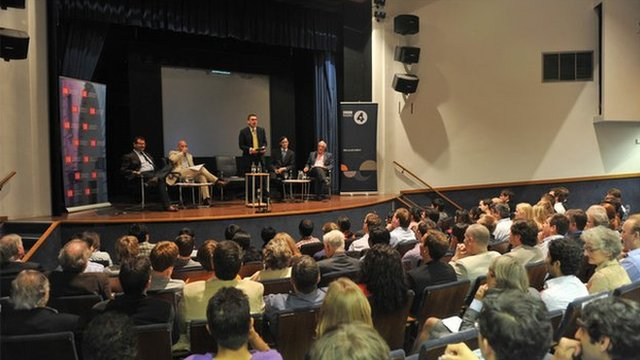 The BBC's Paul Mason chairs the Keynes vs Hayek debate at the London School of Economics