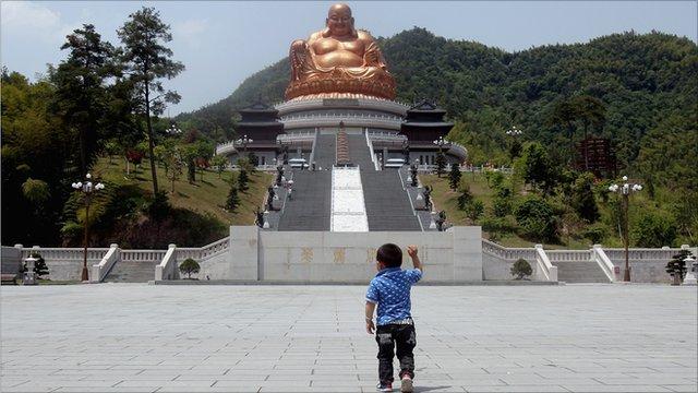 Young boy at Ningbo, China