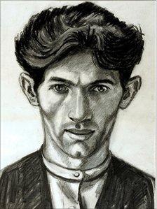 Norman Cornish self-portrait