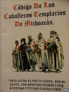 Booklet illustrating The Code of the Knights Templar of Michoacan