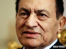 Egypt's former president, Hosni Mubarak