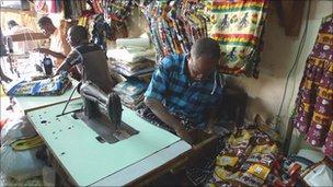 Sewing in Touba
