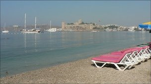 Beach in Bodrum, Turkey