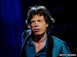Mick Jagger performs onstage during the 53rd Annual Grammy Awards