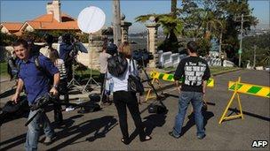 Police cordon off streets in Mosman, Sydney