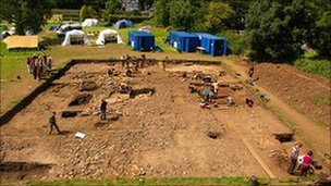 A previous excavation at Priory Field, Caerleon