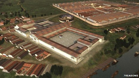 Reconstruction of Caerleon in the Roman period (© 7reasons)