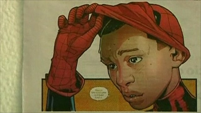 New comic book character who replaces Peter Parker as Spider-Man