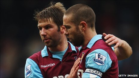 Thomas Hitzlsperger and Matthew Upson