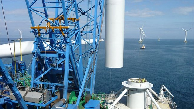 Wind turbine installation on a sea jack