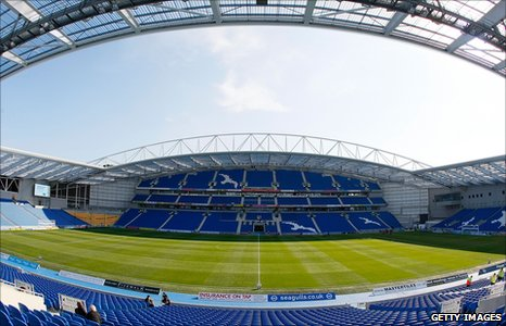 Brighton & Hove Albion's new Amex Stadium