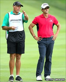 Steve Williams (left) with Adam Scott