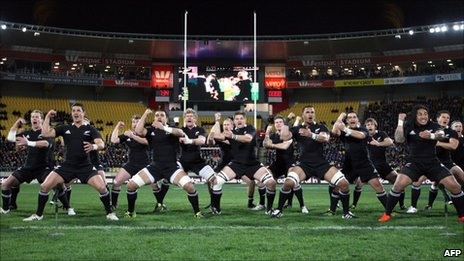 All Blacks at Westpac stadium in Wellington