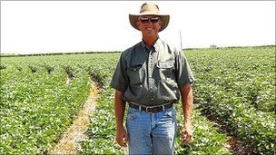 Cotton farmer Glenn Schur