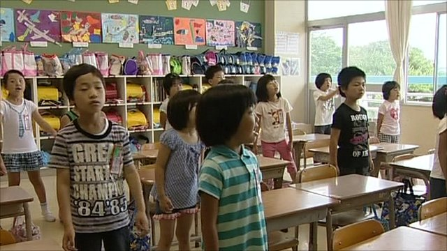 School children in Japan