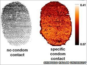 contamination on fingerprints