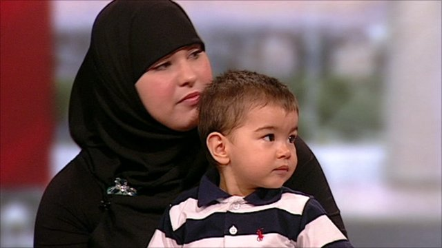 Leila Khan and her son Musa Imran