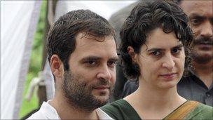 Rahul (left) and Priyanka Gandhi in 2010