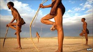 Kalahari bushmen, Namibia