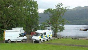 Police search on Loch Lomond