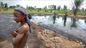 Abandoned oil well, Ogoniland, Niger Delta