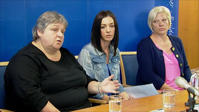 Relatives of Sharkey family speaking at police press conference
