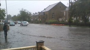 Flooding in Tudhoe, County Durham. Pic by William Bulmer