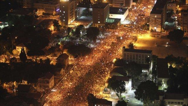 Protests in Tel Aviv