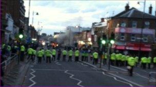 Police line in Tottenham