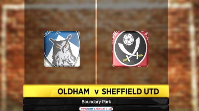 Oldham 0-2 Sheffield Utd