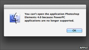Apple Rosetta error