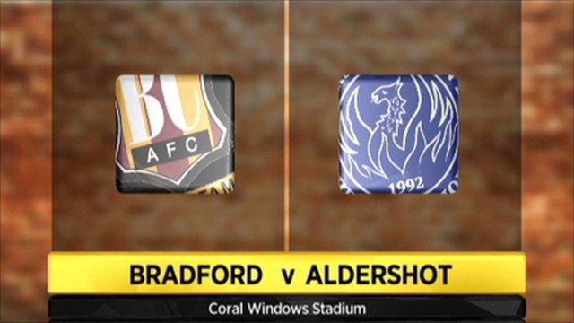 Bradford 1-2 Aldershot